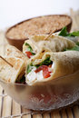 Cheese wraps Stock Images