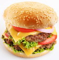 Cheeseburger Fotografia Stock
