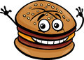 Cheeseburger cartoon character illustration of or hamburger fast food clip art Royalty Free Stock Image