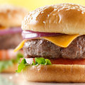 Cheeseburger closeup Royalty Free Stock Images