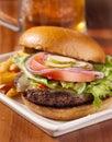 Cheeseburger meal Stock Image
