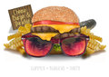 Cheeseburger in Paradise Royalty Free Stock Photo