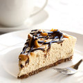Cheesecake and Coffee Royalty Free Stock Photo