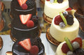 Cheesecake Deserts With Fresh Fruit Royalty Free Stock Photo
