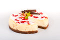 Cheesecake with fresh strawberries tasty dessert Royalty Free Stock Photos