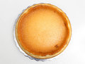 Cheesecake pie top view of whole new york style Stock Photography