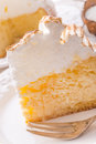 Cheesecake with Swiss meringue Royalty Free Stock Photo