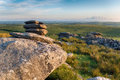 The cheeswring on bodmin moor cheesewring a weathered granite rock formation in cornwall Royalty Free Stock Photography