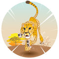 Cheetah king of speed in pursuit prey on savannah Royalty Free Stock Photo
