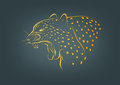 Cheetah logo, leopard symbol and wildcat concept design Royalty Free Stock Photo