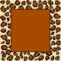 Cheetah spots frame Royalty Free Stock Photos