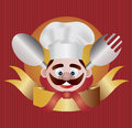 Chef with Banner Illustration Stock Images