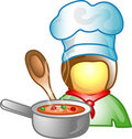 Chef career icon or symbol Stock Image