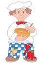 Chef cartoon illustration Royalty Free Stock Photo