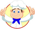 Chef cartoon with thumb up illustration of Royalty Free Stock Images