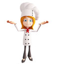 Chef character with  presentation sign Royalty Free Stock Photo