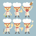 Chef character set cartoon Stock Photos