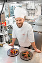 Chef cook at the kitchen Royalty Free Stock Photo