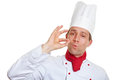 Chef cook making okay gesture Stock Image