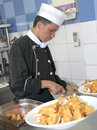 image photo : Chef cooking at kitchen