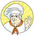 Chef giving the okay sign. Royalty Free Stock Photos