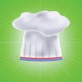 Chef hat colorful illustration with on green background for your design Royalty Free Stock Photos
