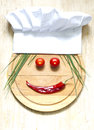 Chef Hat On Cutting Board Abst...