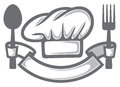 Chef hat food icon food symbol restaurant label restaurant symbol Royalty Free Stock Photos
