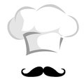 Chef hat with a mustache Royalty Free Stock Photography