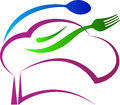 Chef hat spoon fork a vector drawing represents design Royalty Free Stock Image