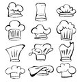 Chef hats collection cartoon vector illustration this is file of eps format Royalty Free Stock Images