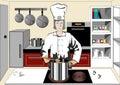 Šéfkuchár v kuchyňa