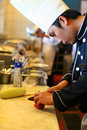 image photo : Chef at kitchen restaurant