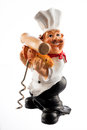 Chef Kitchen Utensil Holder on White Royalty Free Stock Photo