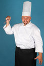 Chef with knife Royalty Free Stock Photo