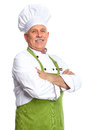 Chef mature professional man isolated over white background Royalty Free Stock Photo