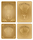 Chef menu cover or board - vector set Stock Images