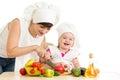 Chef Mom And Kid Prepare Healt...