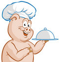 Chef piggy Stock Photography