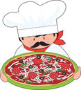 Chef and Pizza Stock Images