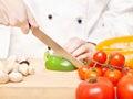 Chef preparing salad Royalty Free Stock Photos
