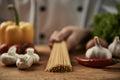 Chef preparing spaghetti Royalty Free Stock Photo