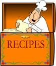 Chef In A Recipe Box Stock Photo