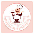 Chef and  restaurant graphic Royalty Free Stock Photography