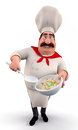 Chef with rice pot Stock Photos