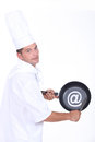 Chef with an @ sign Royalty Free Stock Photo