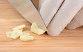 Chef Slicing Garlic Royalty Free Stock Photo