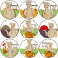 Chef stickers Royalty Free Stock Photo