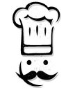 Chef stylized illustration of a on white background Stock Images