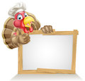 Chef turkey sign Royalty Free Stock Photo